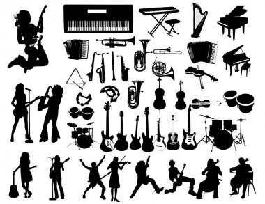 Music instruments and musicians