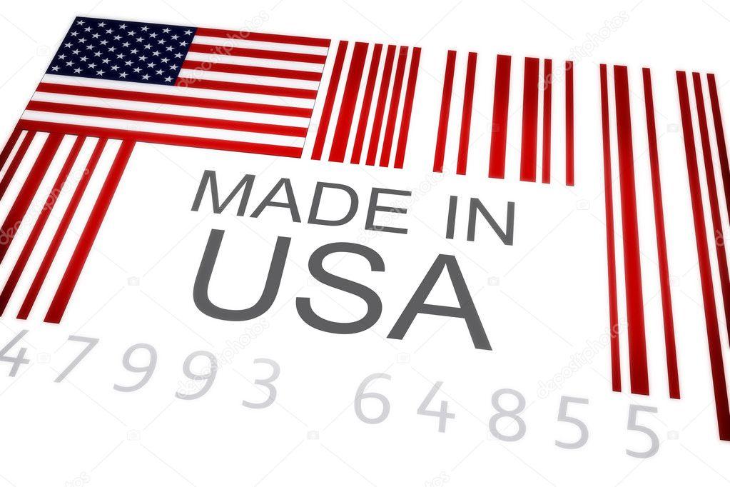 USA Product Bar Code Stock Photo Digitalstorm - Usa code