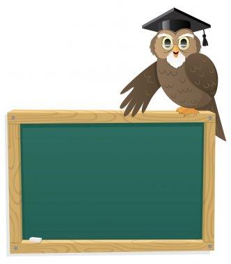 Owl & Blackboard