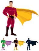 Superhero comic cartoon