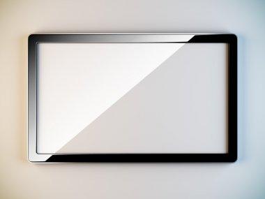 Empty black plastic frame.