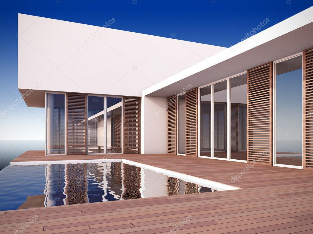 Casa moderna estilo minimalista foto de stock nav for Casa moderna immagini