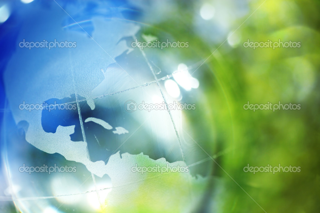 Blue and green earth background