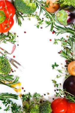 Beautiful fresh vegetable frame.