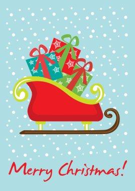 christmas sleigh card