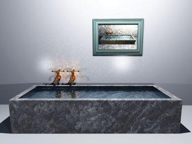 3d rendering of the bathroom