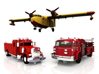 Firefighters transports