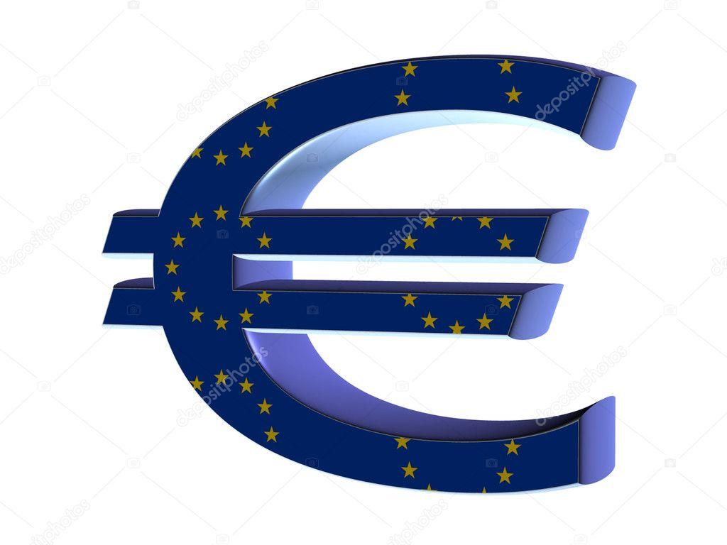 76b293917 3D znak euro na czarny — Zdjęcie stockowe © njaj #6593943