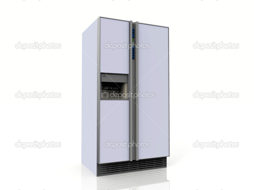 Amerikanischer Kühlschrank Qualität : Amerikanischer kühlschrank auf weißem hintergrund u stockfoto