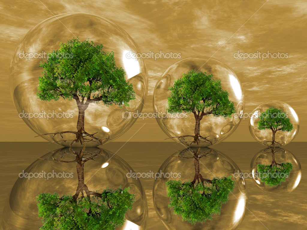 Trees in a bubbles