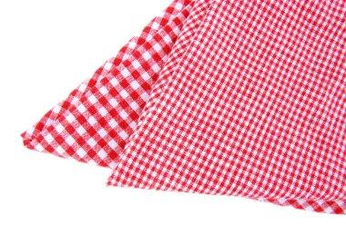 Checkered napkin isolated
