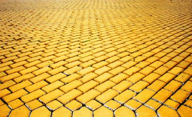 Yellow pavement