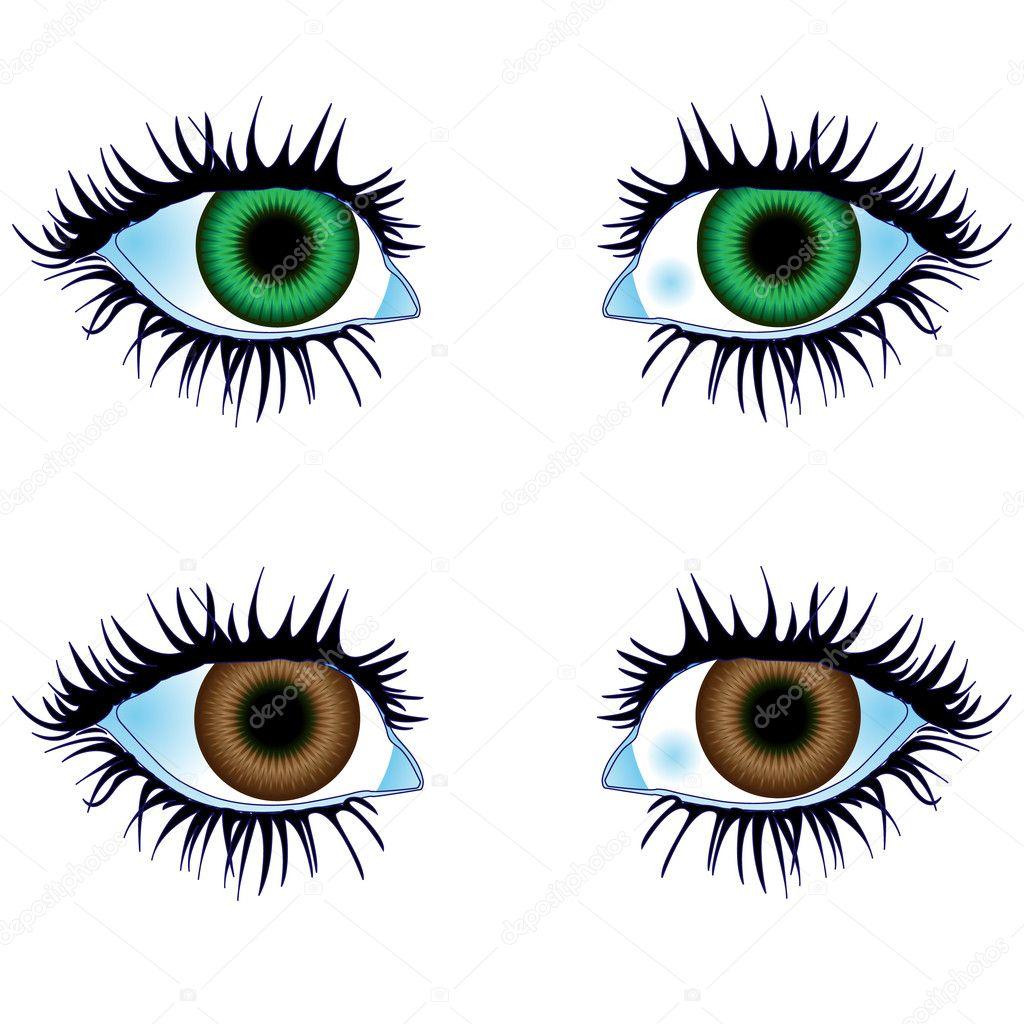 Augen von Körperteilen — Stockvektor © MedusArt #6659198