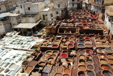 Vats in Fez, morocco