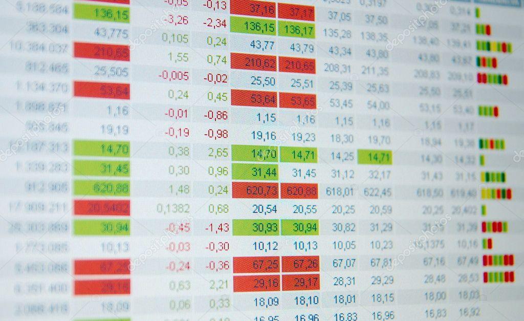 3f0d492c10 Quotazioni di borsa, tempo reale quotazioni in borsa, mercato– immagine  stock