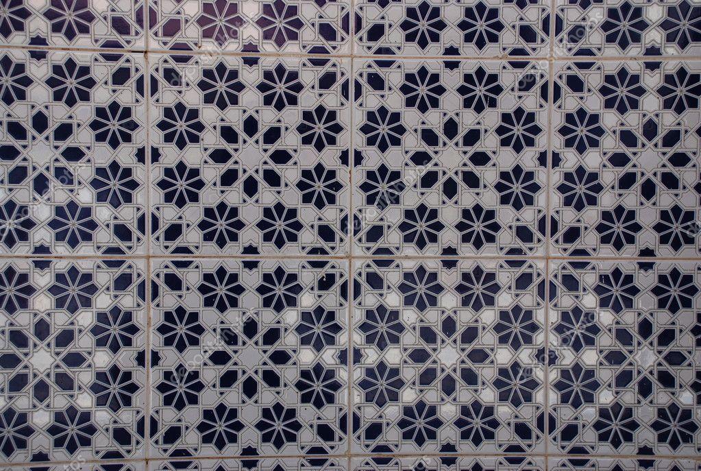 Mosaico di piastrelle di ceramica marocco u foto stock