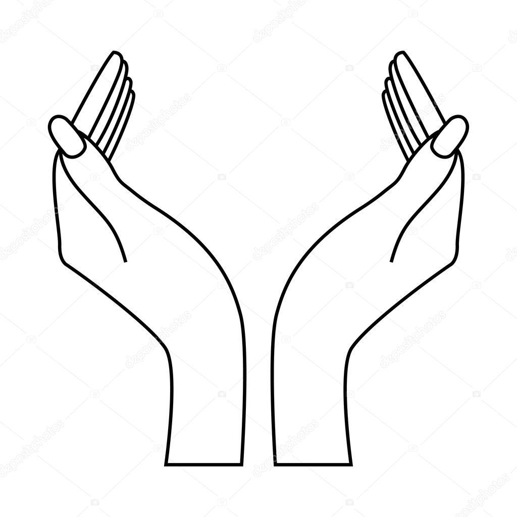 Силуэт рука