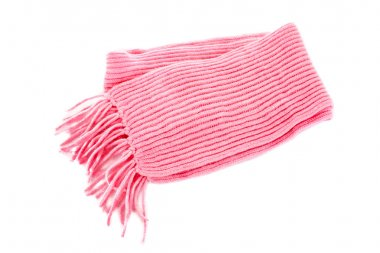 Pink scarf on a white background
