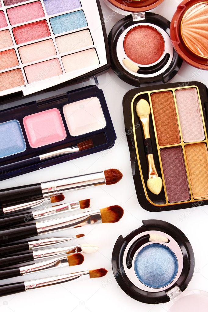 Many colourful woman cosmetics