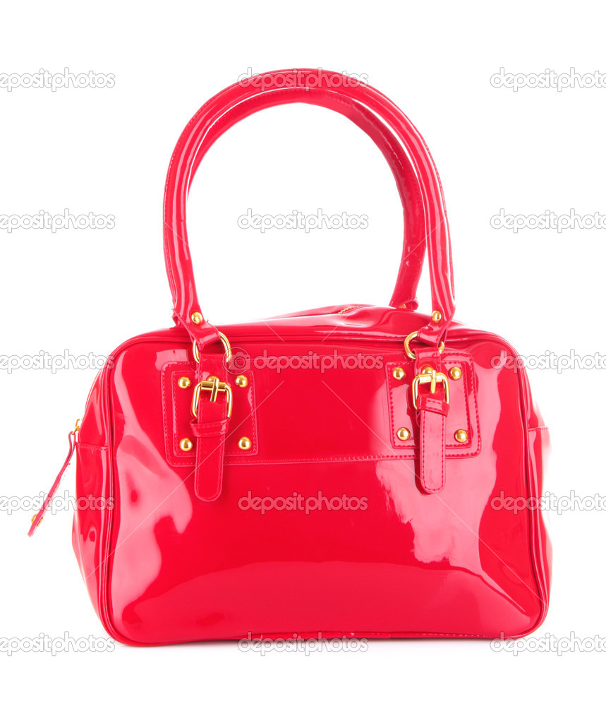 0c143f3e58112 Red women bag isolated on white background — Stock Photo ...