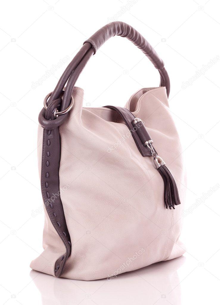 094e83eef4ac8 torebki damskie szary na białym tle na białym tle — Zdjęcie stockowe ...