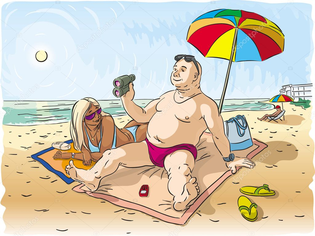 Прикол картинки муж с женой на море, олимпийским мишкой