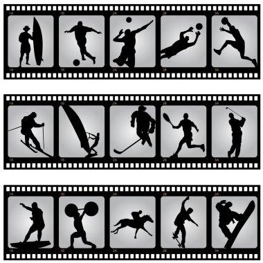 Sport filmstrip scene