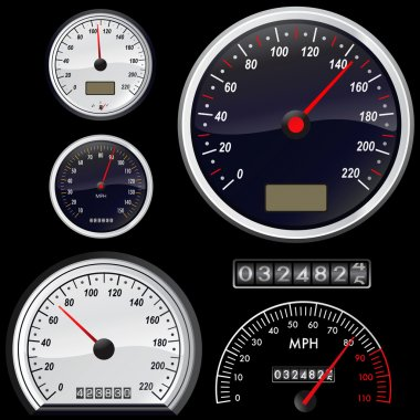 Set of speedometer