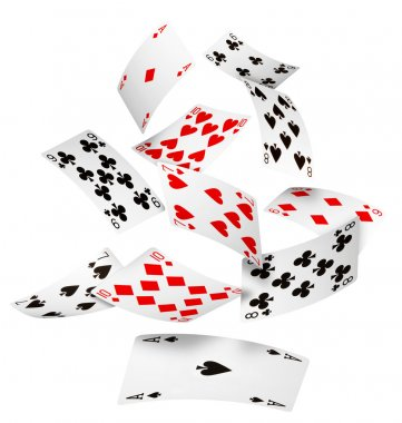 Falling cards