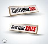 Vánoce a nový rok prodeje 3d panely