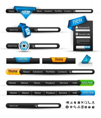 Set of modern original style search banners and web headers