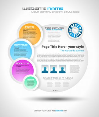 Bubble Style Website - Elegant Design