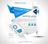 Origami honlapja - elegáns design