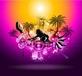 Fényképek Trópusi napnyugta Music Party Disco szórólap