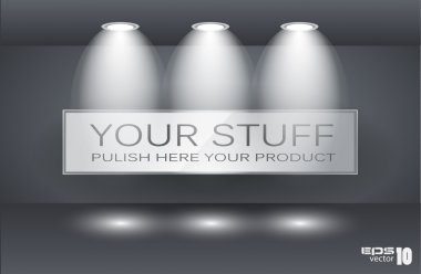 Wall Panel for Your Product with LED spotlights