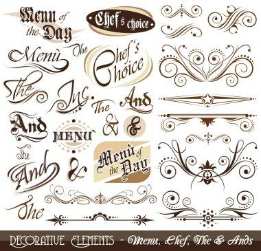 Vintage Decorative Calligraphic Elements