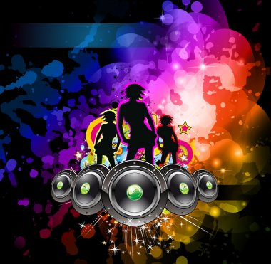 Girls Discoteque Event Flyer for Music Themed Flyers