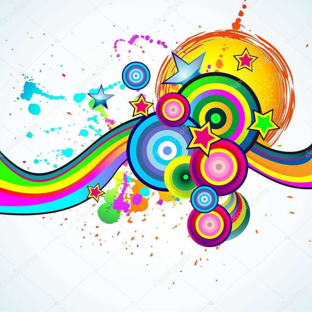 Abstract Spring Party Flyer Vector DavidArts 6716559 – Spring Party Flyer