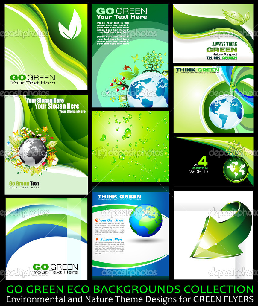 Go Green Eco Backgrounds Collection