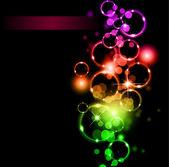 Zářící kruhy llight s raibow barvy pozadí