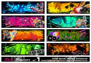 Music Disco Banners - Set 1