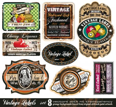 Vintage Labels Collection -Set 8