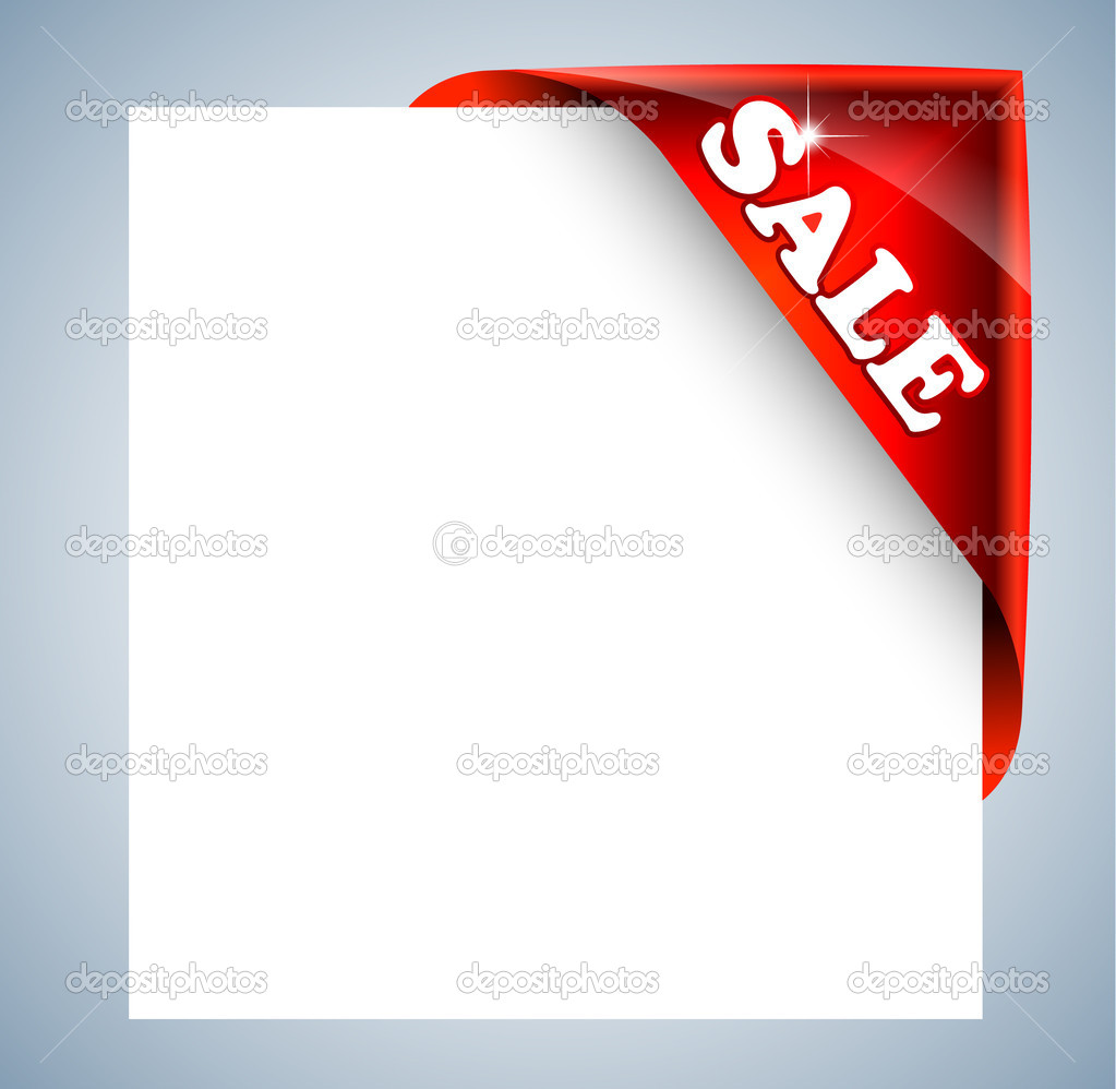 Corner Christmas Tag for Discount Image Framing — Stock Vector ...