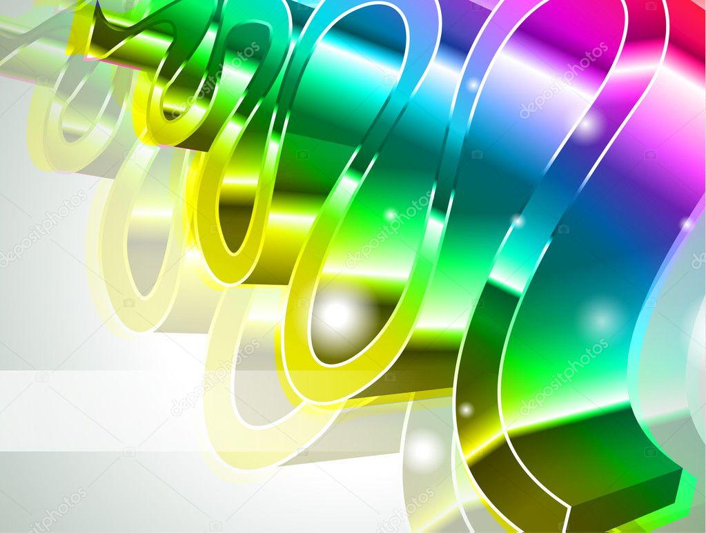 Carte De Visite Arc En Ciel Haute Technologie Moderne Vecteur Par DavidArts