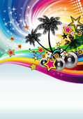 Tropical Disco Dance Background