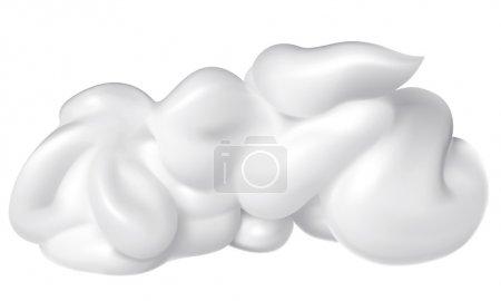Illustration for White cream isolated on white . - Royalty Free Image