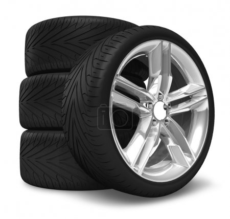Photo for Car wheels set - Royalty Free Image