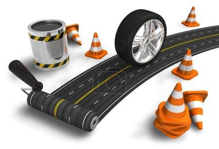 Photo pour Concept de construction de route - image libre de droit