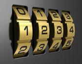 4-stelliges Zahlenschloss