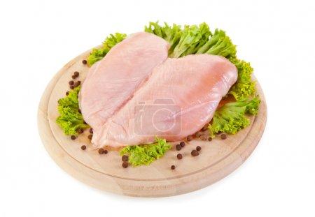 Fresh raw chicken breasts